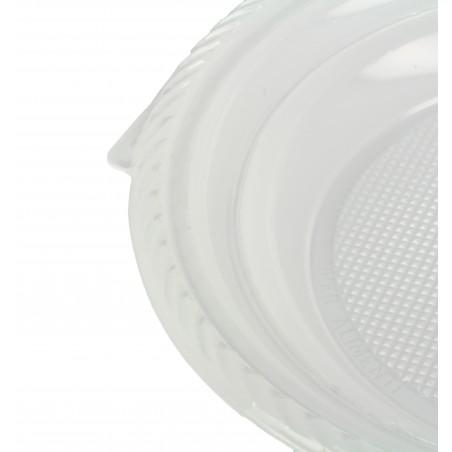 Plato de Plastico Llano Blanco 205 mm (100 Uds)