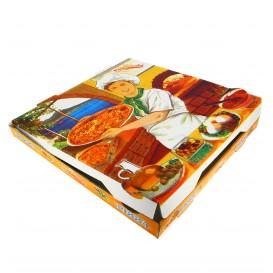 Cajas para Pizza 33x33x3,5 Vegetal (100 Uds)