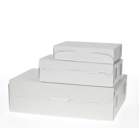 Caja para Dulces y Bombones Blanca 17x10x4,2cm 500g (5 Uds)