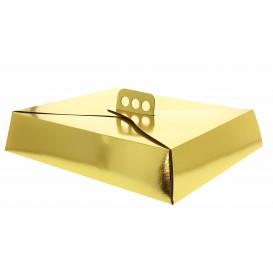 Caja de Cartón para Tartas Oro 26,5x35,5x8 cm (50 Uds)