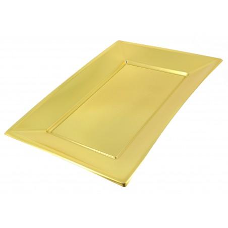 Bandeja de Plastico Oro 330x225mm (2 Uds)