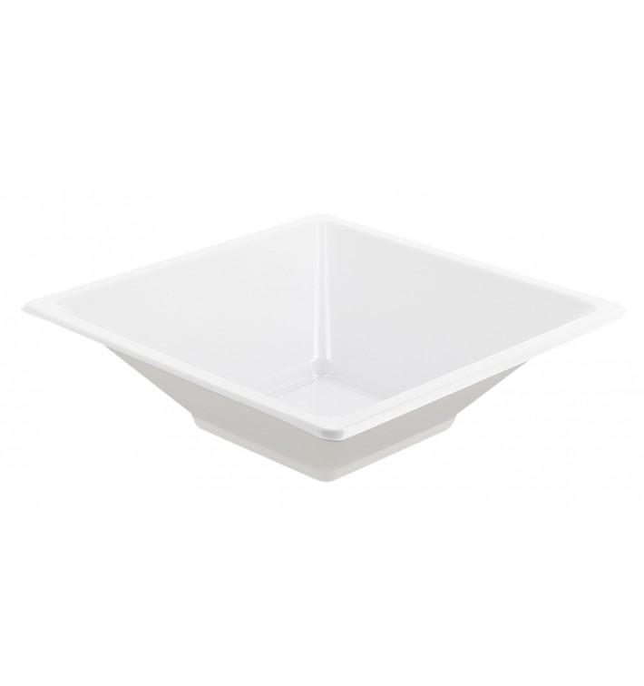 Bol de Plástico PS Cuadrado Blanco 12x12cm (12 Uds)