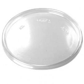 Tapa Plana de Plastico Transparente Ø11cm (100 Uds)