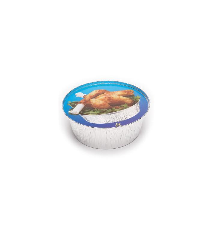 Tapa Cartón Envases Redondo para Pollo 1900ml (125 Uds)