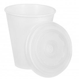Vaso Termico Foam EPS 7Oz/200ml Blanco + Tapa (1.000 Uds)