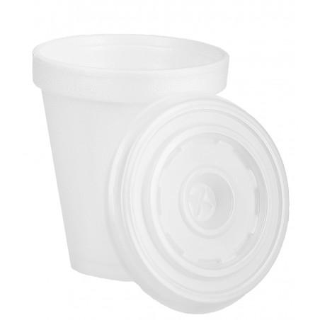 Vaso Termico Foam EPS 6Oz/180ml Blanco + Tapa (2.000 Uds)