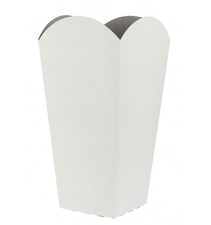 Caja Palomitas Mediana Blanca 90 gr 7,8x10,5x18cm (25 Uds)