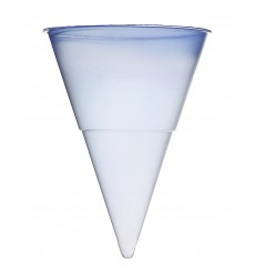 Cono de Plastico PP Azul 115 ml para Agua (200 Unidades)