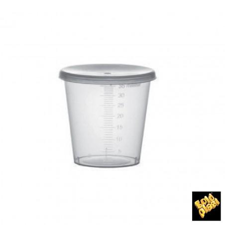 Tapa Cupula Agujero para Vaso PET 9 Oz/265ml Ø7,5cm (50 Uds)