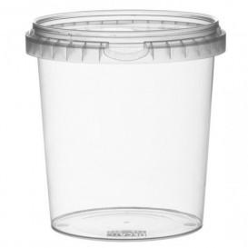Envase de Plastico con Tapa Inviolable 870 ml Ø11,8 (19 Uds)