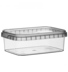 Envase Plastico Rectangular inviolable 280ml 120x88mm (192 Uds)