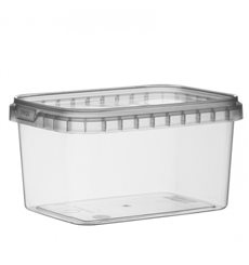 Envase Plastico Rectangular inviolable 425ml 120x88mm (184 Uds)