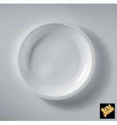 Plato de Plastico Llano Blanco Ø220mm (50 Uds)