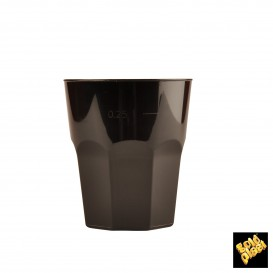 Vaso Plastico para Cocktail Negro PP Ø84mm 270ml (20 Uds)