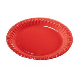 "Plato de Carton Redondo ""Party"" Rojo 180mm (10 Uds)"