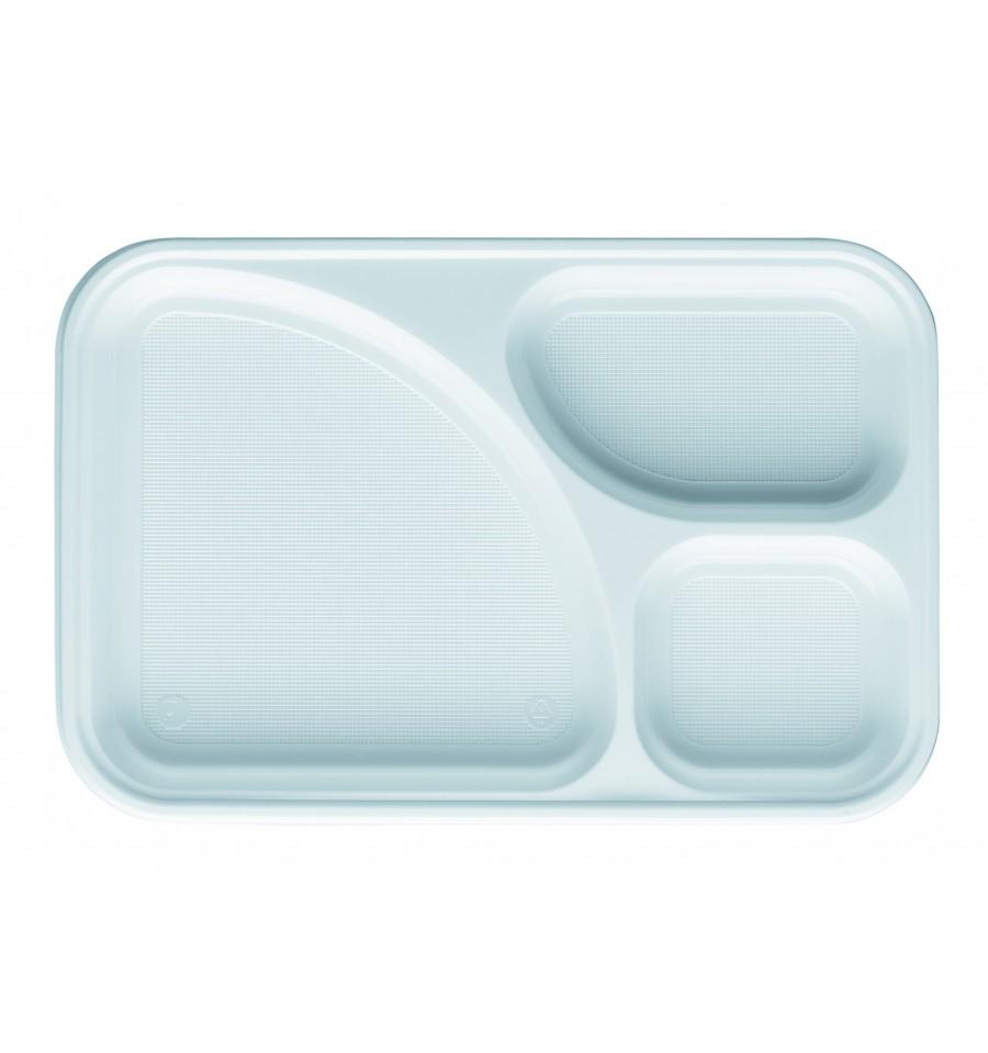Bandeja de plastico ps blanca 3c 315x210mm 100 uds - Bandeja de plastico ...