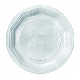 "Plato de Plastico PP Hondo Blanco ""Deka"" 220 mm (100 Uds)"