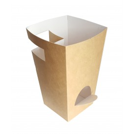 Caja Cartón Para Churros con Chocolate Kraft 78x78x179mm (500 Uds)