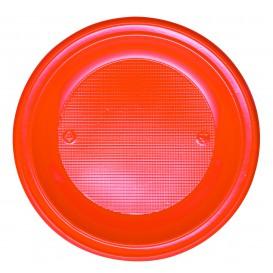 Plato de Plastico PS Hondo Naranja Ø220mm (30 Uds)