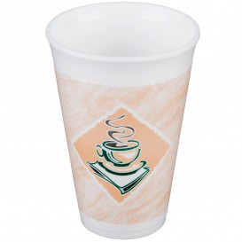 "Vaso Termico Foam EPS ""Café"" 12Oz/360ml Ø8,9cm (20 Uds)"
