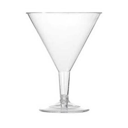 Copa Inyectada Cocktail Plastico PS Rigido 215 ml (3 Unidades)