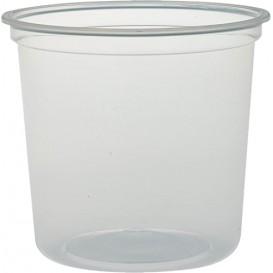 "Envase Plastico PP ""Deli"" 24Oz/710ml Transp. Ø120mm (25 Uds)"