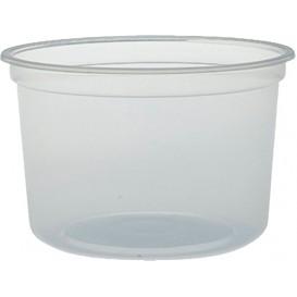 "Envase Plastico PP ""Deli"" 16Oz/473ml Transp. Ø120mm (25 Uds)"