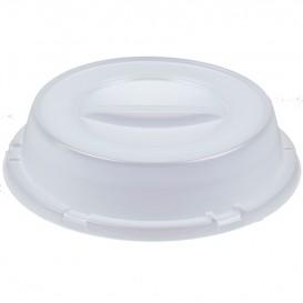 Tapa Alta de Plastico PS Translucida para Plato Ø230mm (125 Uds)