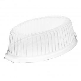 Tapa de Plastico PS Alta Transp. para Cazuela FOAM 180x130x50mm (125 Uds)