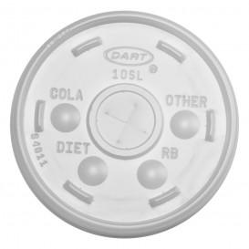 Tapa de plastico PS Translúcida con Cruz Ø8,6cm (100 Uds)