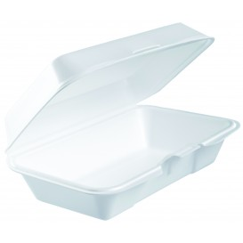 Envase Foam LunchBox Blanco 225x140mm (125 Uds)
