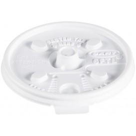 "Tapa de Plastico PS ""Lift n' Lock"" Blanca Ø7,4cm (100 Uds)"