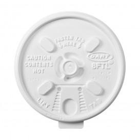 "Tapa de Plastico PS ""Lift n' Lock"" con solapa Blanca Ø8,1cm (100 Uds)"