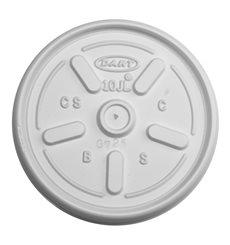 Tapa de plastico PS Translúcida con Respiradero Ø8,6cm (100 Uds)