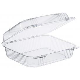 """Envase Plástico OPS """"StayLock"""" Bisagra Transp. 1260ml (125 Uds)"""