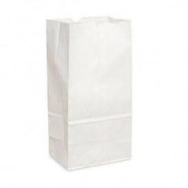 Bolsa de Papel Sin Asas Kraft Blanca 12+8x24cm (25 Uds)