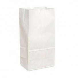 Bolsa de Papel Sin Asas Kraft Blanca 15+9x28cm (1000 Uds)
