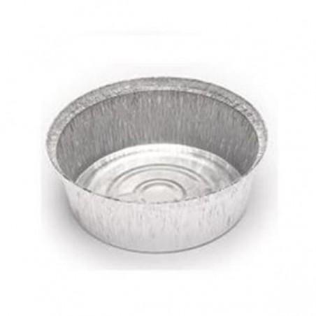 Recipiente Aluminio 1900ml Redondo para Pollo (100 unidades)
