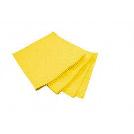 Servilleta de Papel Micropunto 20x20cm Amarilla (100 Uds)