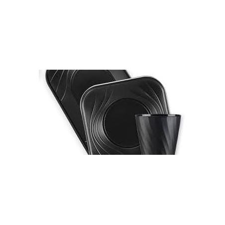 "Vaso de Plastico PP ""X-Table"" Negro 320ml (8 Uds)"