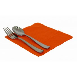 Servilleta de Papel Naranja 33x33cm 1 Capa (70 Uds)