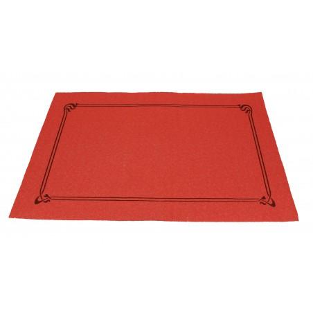 Mantel Individual de papel 30x40cm Rojo Orla 40g (1.000 Uds)