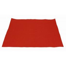 Mantel Individual de papel 30x40cm Rojo 40g (1.000 Uds)