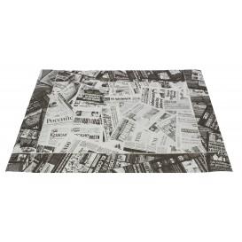 "Mantel Individual Papel 30x40cm ""Prensa"" Negro 50g (500 Uds)"