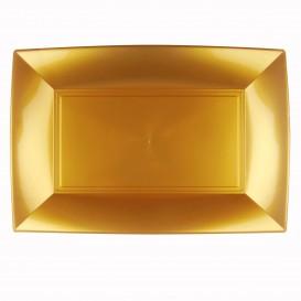 Bandeja Plastico Oro Nice PP 345x230mm (6 Uds)