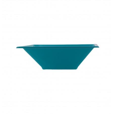 Bol de Plastico Cuadrado Turquesa 120x120x40mm (12 Uds)