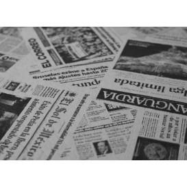 """Mantel de Papel Cortado 1x1m Blanco """"Prensa"""" 37g (400 Uds)"""