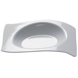 Plato Degustación Flat Blanco 8x6,6 cm (50 Uds)