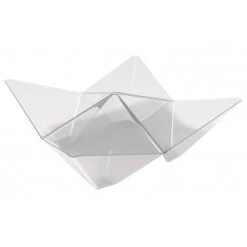 Bol Degustación Origami PS Transparente 103x103mm (25 Unidades)