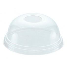 Tapa Cupula Agujero Vaso PET 420ml Ø9,3cm (100 Uds)
